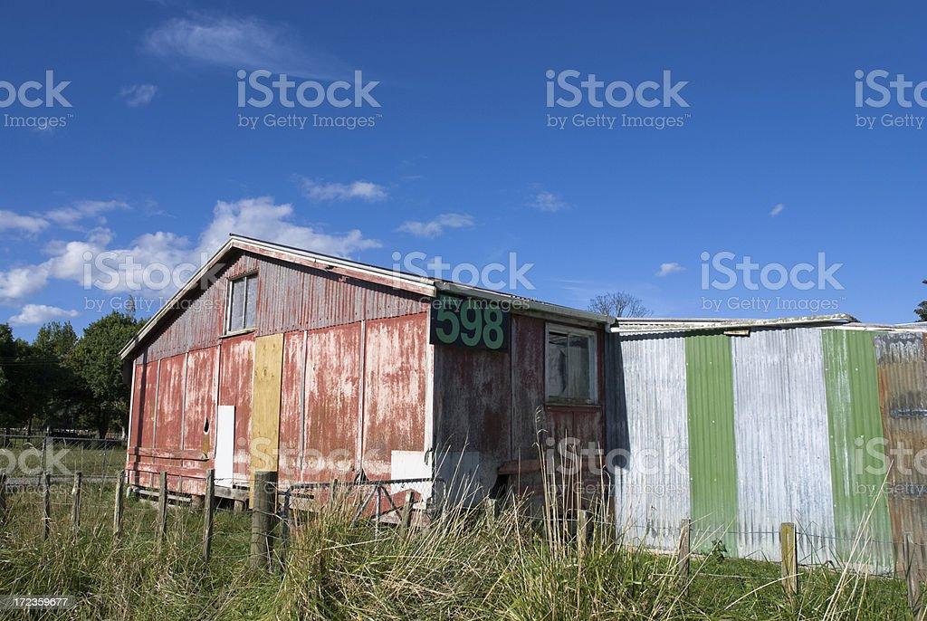 New Zealand Farm Shed royalty-free stock photo