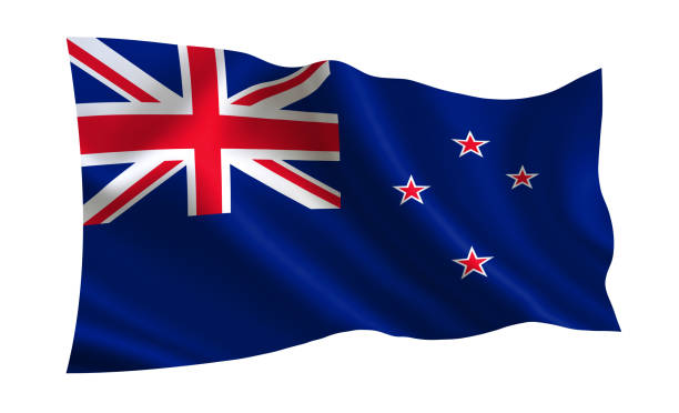 new zealand flag. a series of flags of the world. - new zealand flag stock photos and pictures