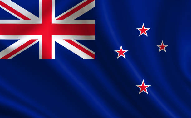 "new zealand flag. a series of ""flags of the world.""  ( the country - new zealand flag ) - new zealand flag stock photos and pictures"