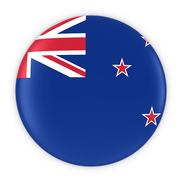 new zealand flag button - flag of wales new zealand - new zealand flag stock photos and pictures