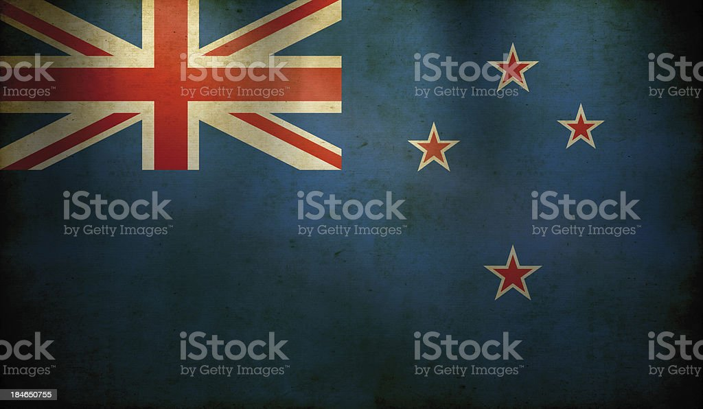 New Zealand Flag Grunge Wallpaper Stock Photo More Pictures Of
