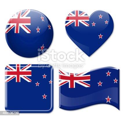 istock New Zealand Flags & Icon Set 453106739