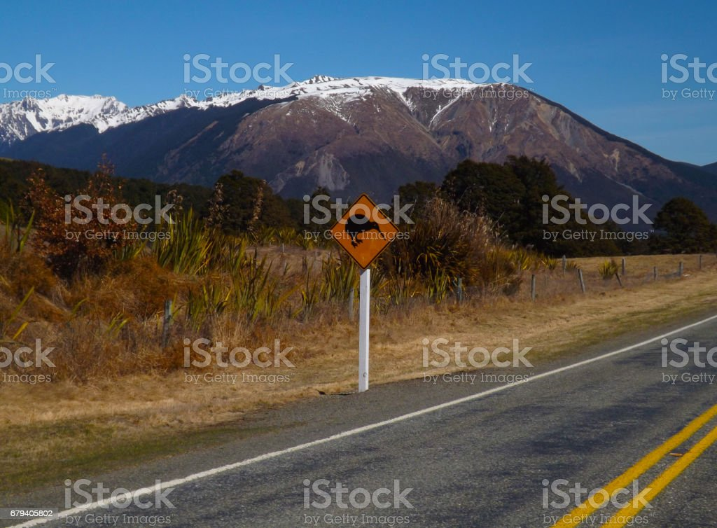 New Zealand High Way royalty-free stock photo