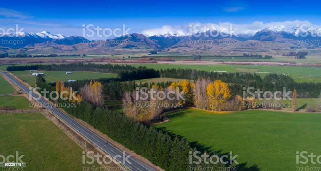 Nowa Zelandia jesienią - Zbiór zdjęć royalty-free (Droga)