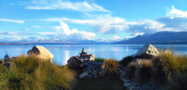 New Zealand landscape. stock photo