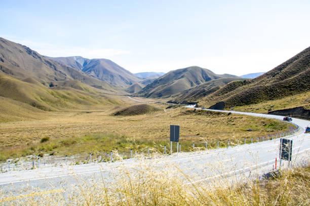 New Zealand: Lindis Pass stock photo
