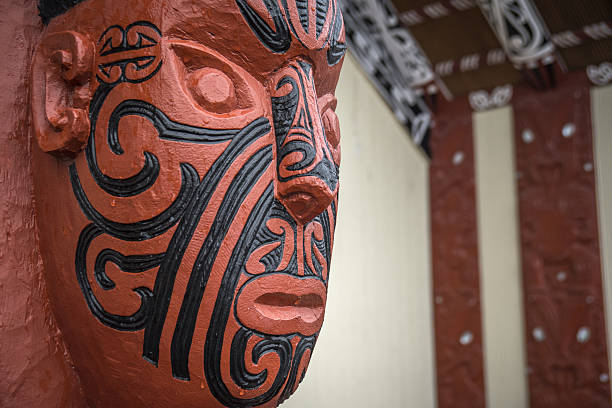 new zealand maori carving - maori stock photos and pictures