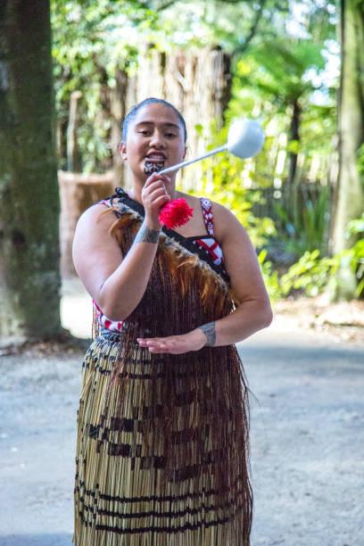 New Zealand: Maori Poi Dance stock photo
