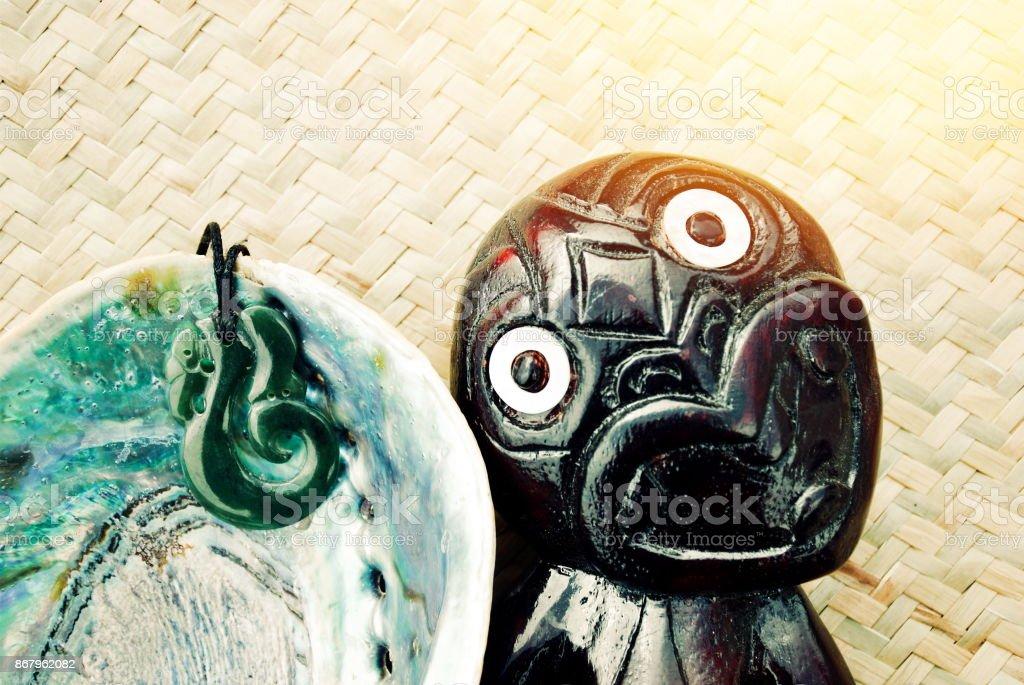 New Zealand - Maoritanga (Maori Culture) Background Concept stock photo