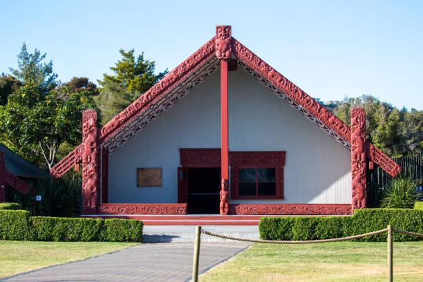 New Zealand: Marae in Rotorua stock photo