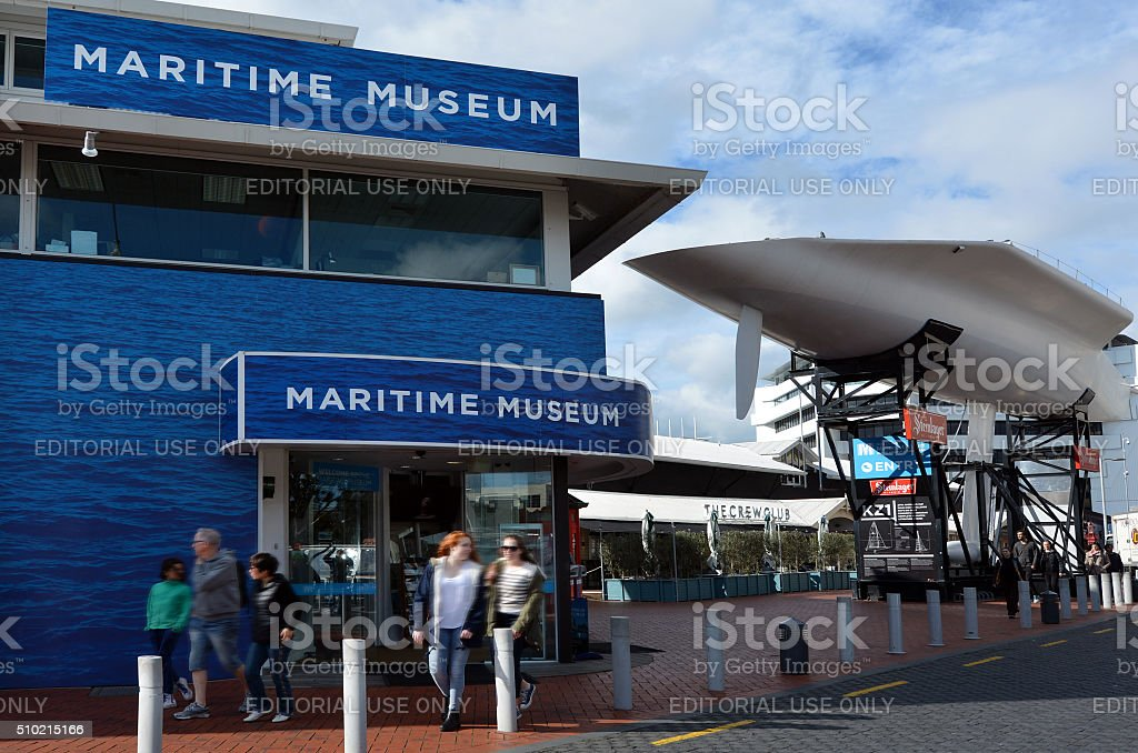 New Zealand Maritime Museum in Auckland stock photo