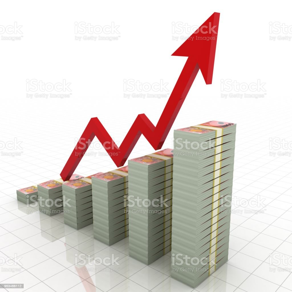 New Zealand Money Growth Chart Graph Stock Photo More Pictures Of