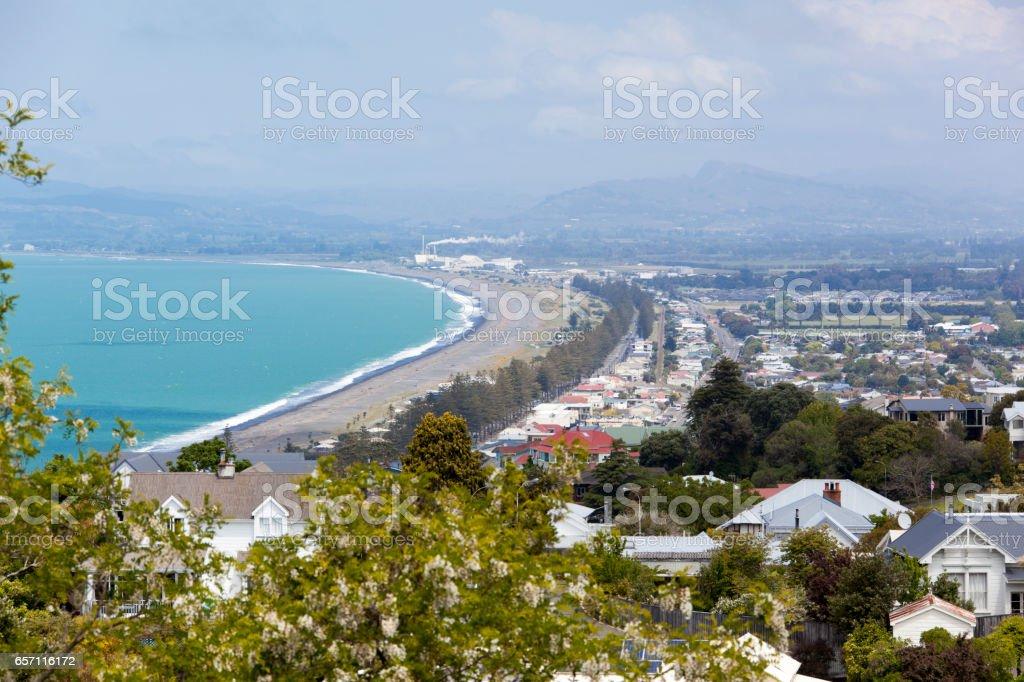 New Zealand Napier Town stock photo