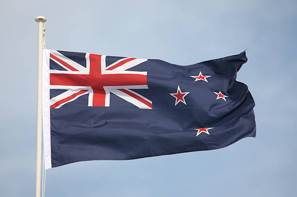 new zealand national flag - new zealand flag stock photos and pictures
