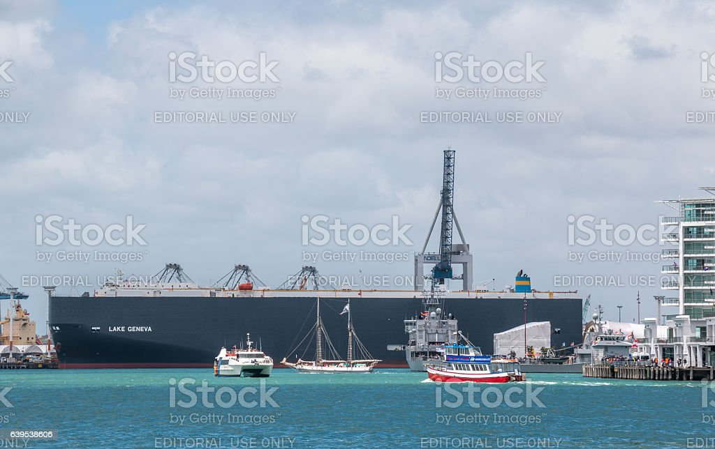 New Zealand Navy's 75th Birthday celebrations stock photo