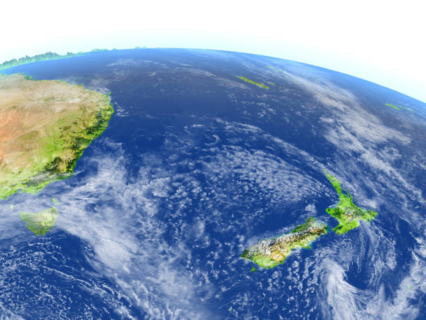 New Zealand on planet Earth stock photo