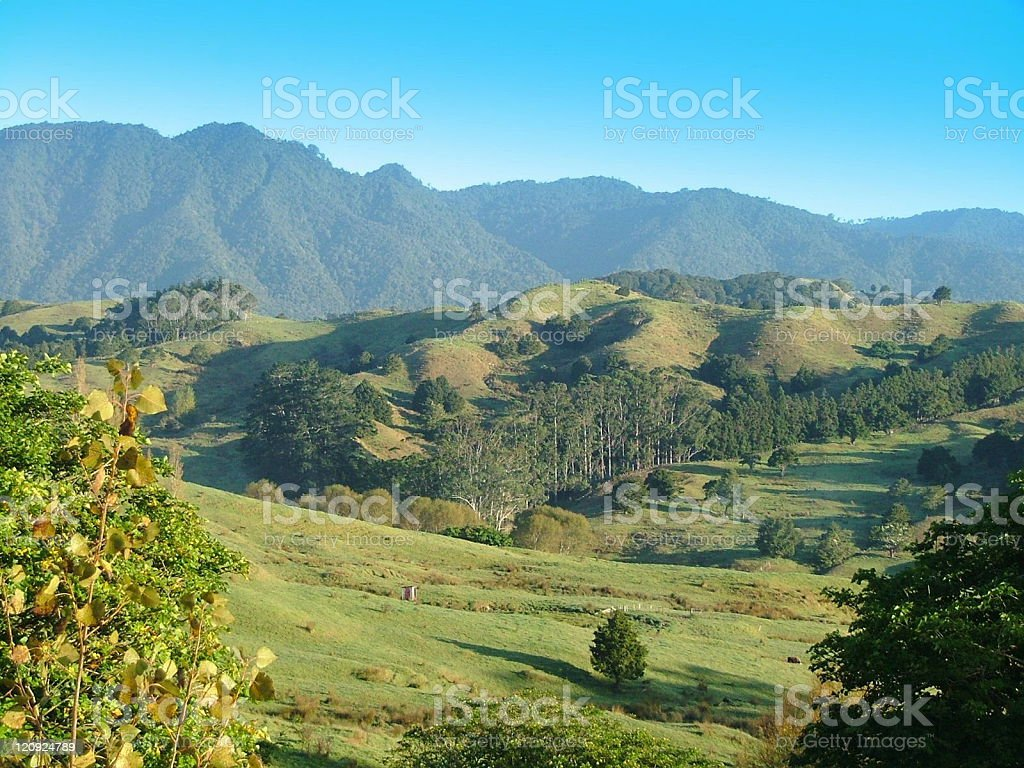 New Zealand Panorama Of Mountains and Valleys royalty-free stock photo