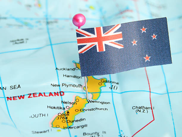 new zealand - new zealand flag stock photos and pictures