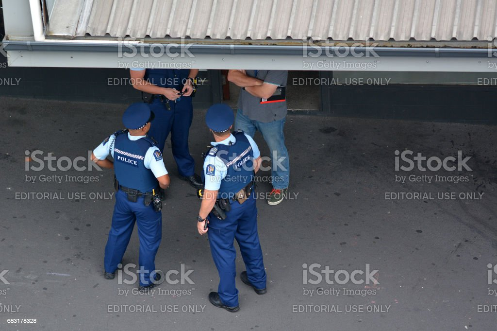 New Zealand Police officers on crime respond