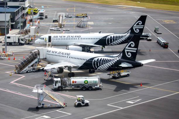 New Zealand: Queenstown Airport (ZQN) stock photo