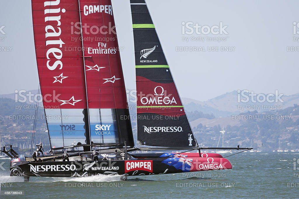 New Zealand racing in America's Cup stock photo