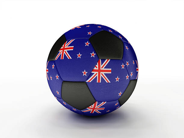 New Zealand soccer football ball stock photo
