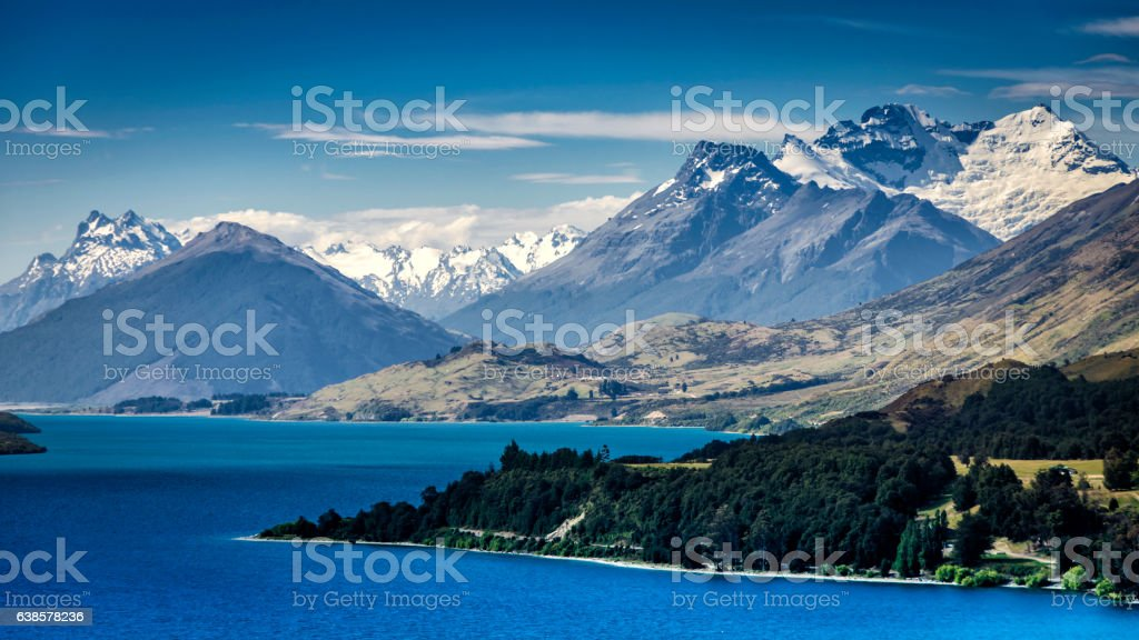 New Zealand Southern Alps stock photo