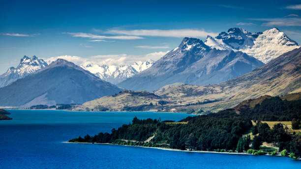 new zealand southern alps - nzgmw2017 stock pictures, royalty-free photos & images
