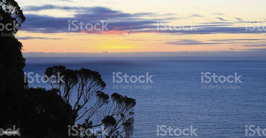 New Zealand Sunset royalty-free stock photo