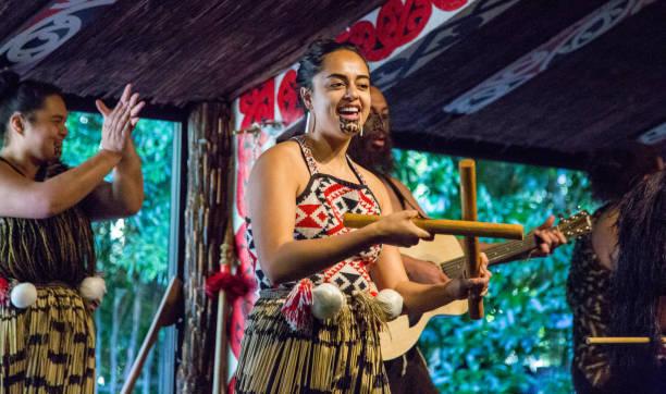 New Zealand: Tititorea Dance stock photo