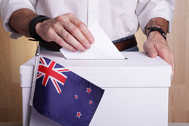 New Zealanders to vote stock photo