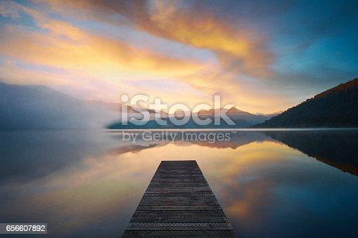 New Zealand's Lake Kaniere At Dawn
