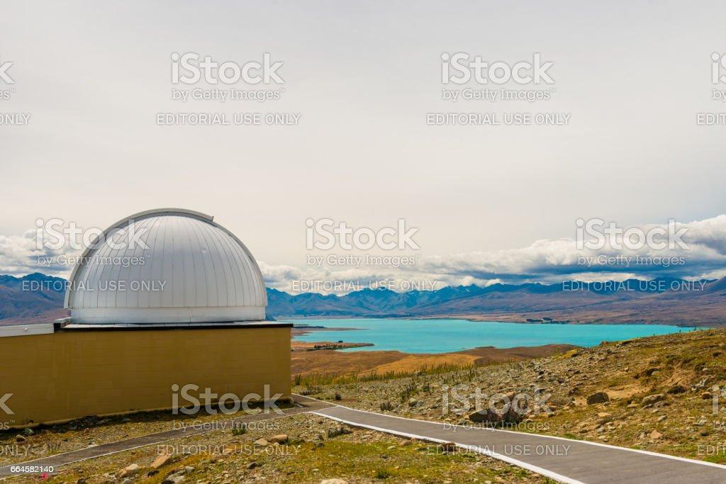 New Zealand's premier astronomical research observatory, Lake Tekapo, stock photo