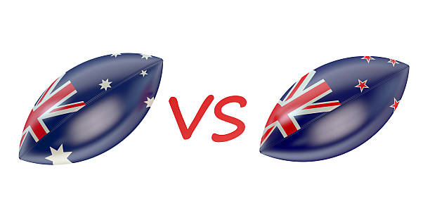 New Zeland vs Australia final Rugby World Cup 2015 stock photo