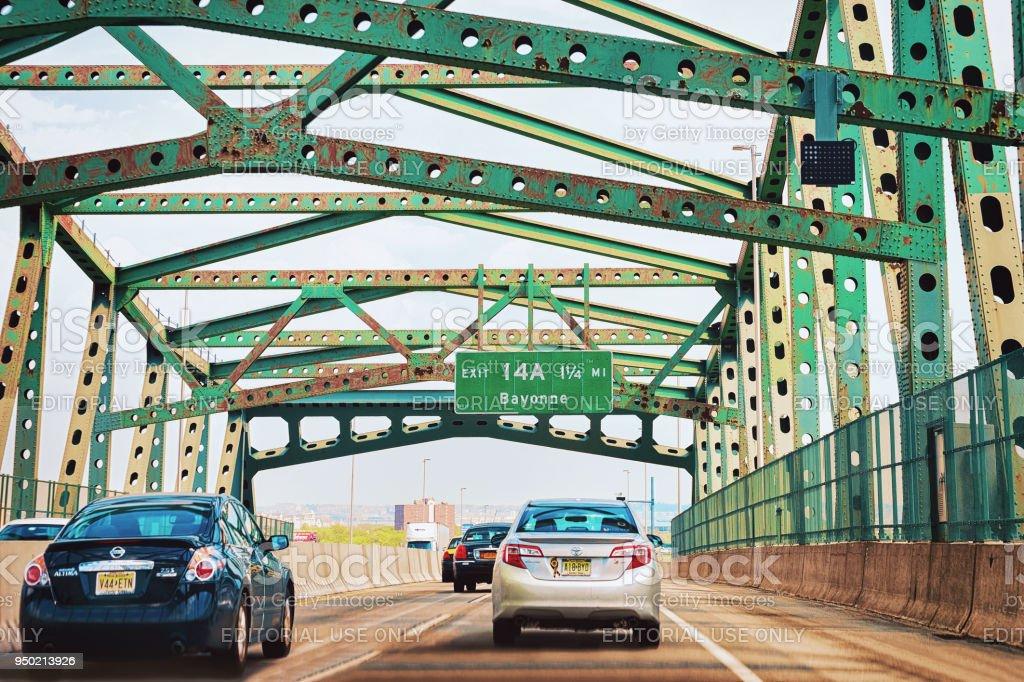 Newark bridge at New Jersey stock photo