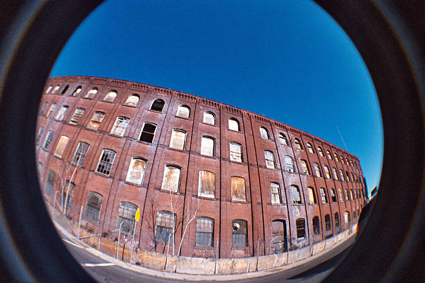 Newark, fisheye view stock photo