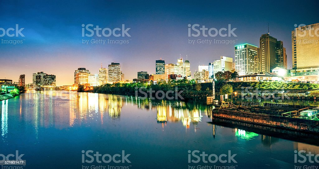 Newark Skyline Panorama stock photo