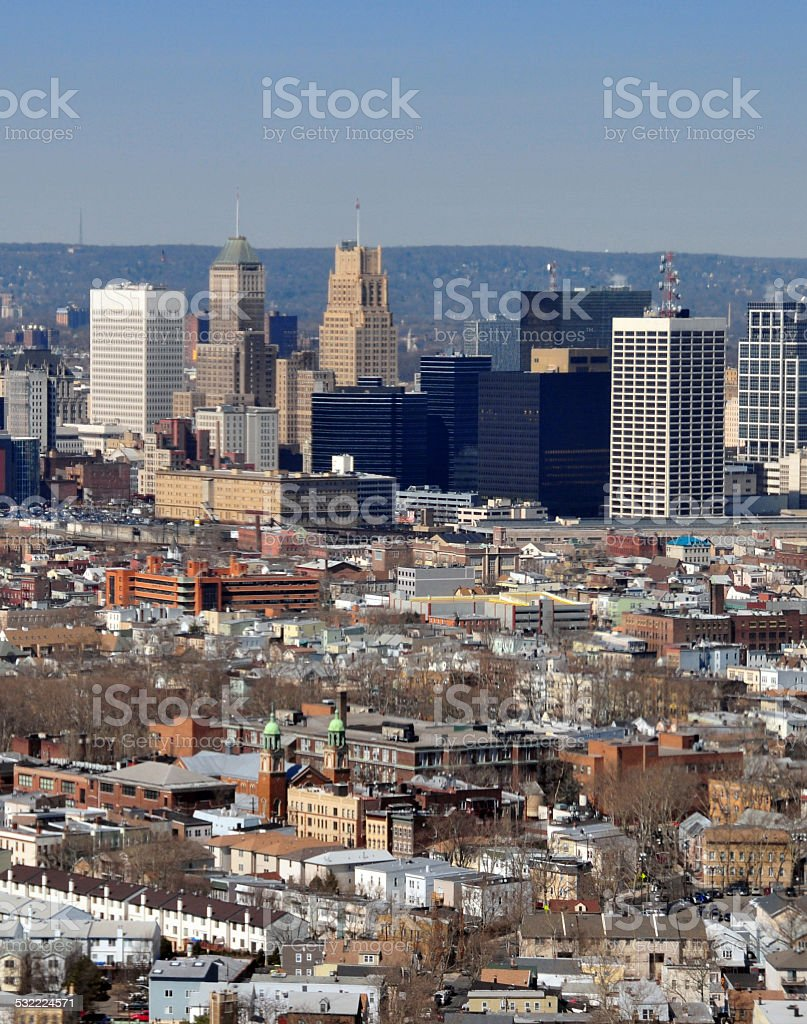 Newark,NJ: Ironbound and downtown stock photo