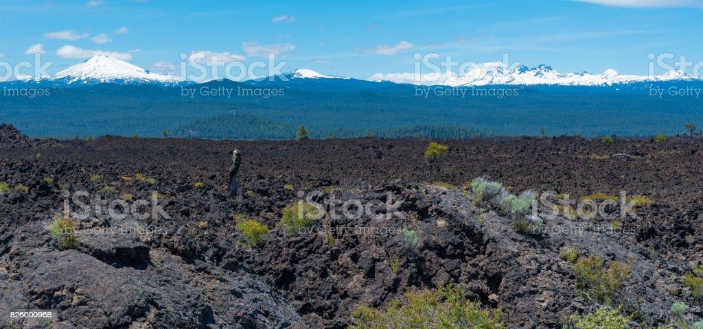 Newberry National Volcanic Monument stock photo