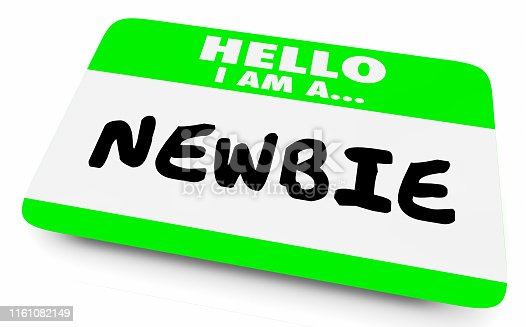 Newbie New Employee Member Introduction Hello Nametag 3d Illustration