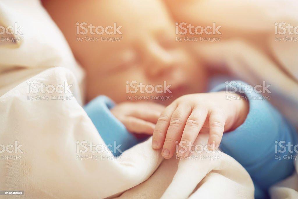 Newborn asleep royalty-free stock photo