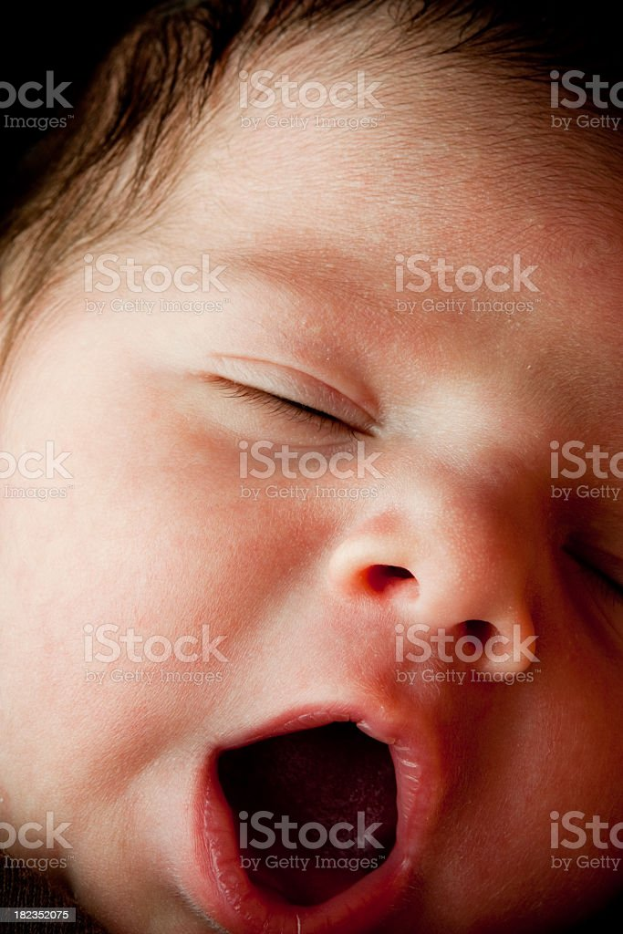 Newborn Baby Boy Isolated on Black royalty-free stock photo