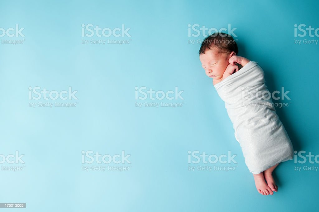 Newborn Baby Boy Sleeping foto