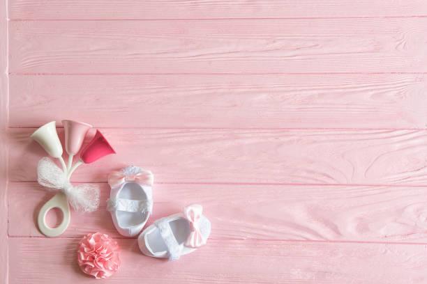 un fondo de bebé recién nacido. - baby shower fotografías e imágenes de stock