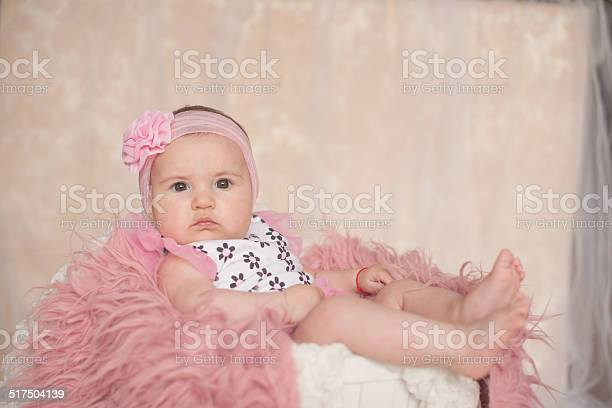 Newborn baby girl in pink flower lying at basket picture id517504139?b=1&k=6&m=517504139&s=612x612&h=ze16nwrkwrdledxqrpnqnou2msjgjtmgygogyylkuni=