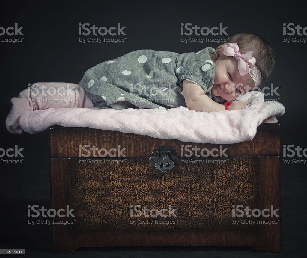 Newborn Baby Girl royalty-free stock photo