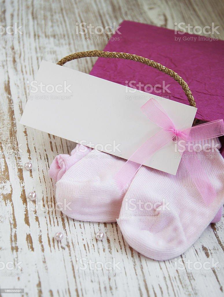 newborn baby greeting royalty-free stock photo