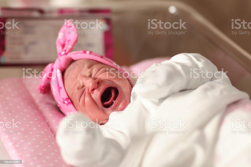 Newborn Baby In Hospital Nursery - Turkish ethnicity