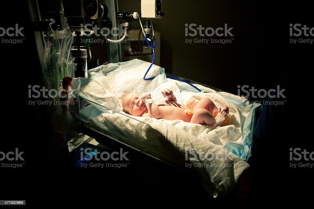 Newborn Baby in Hospital stock photo