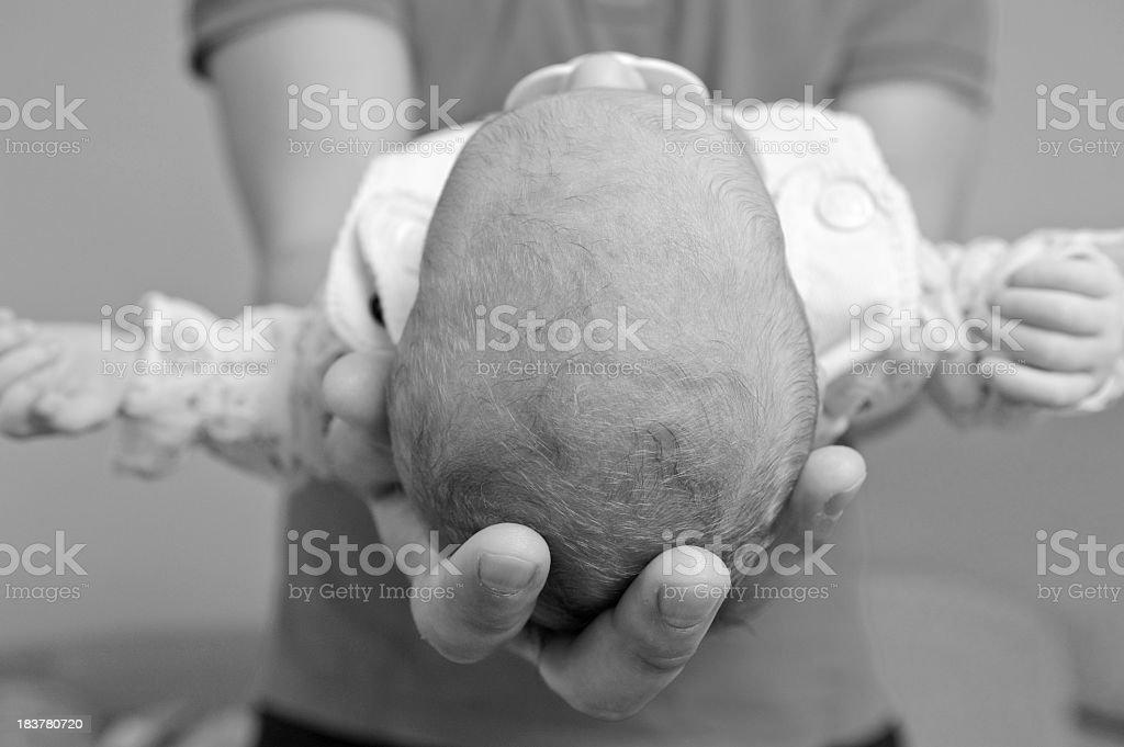 Newborn baby in the comfort stock photo
